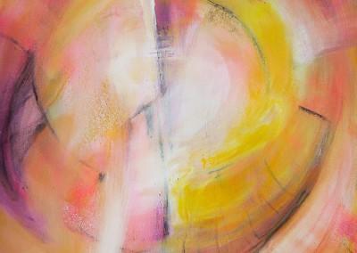 Lichtkreisel   50 x 70 cm   Acryl auf Leinwand