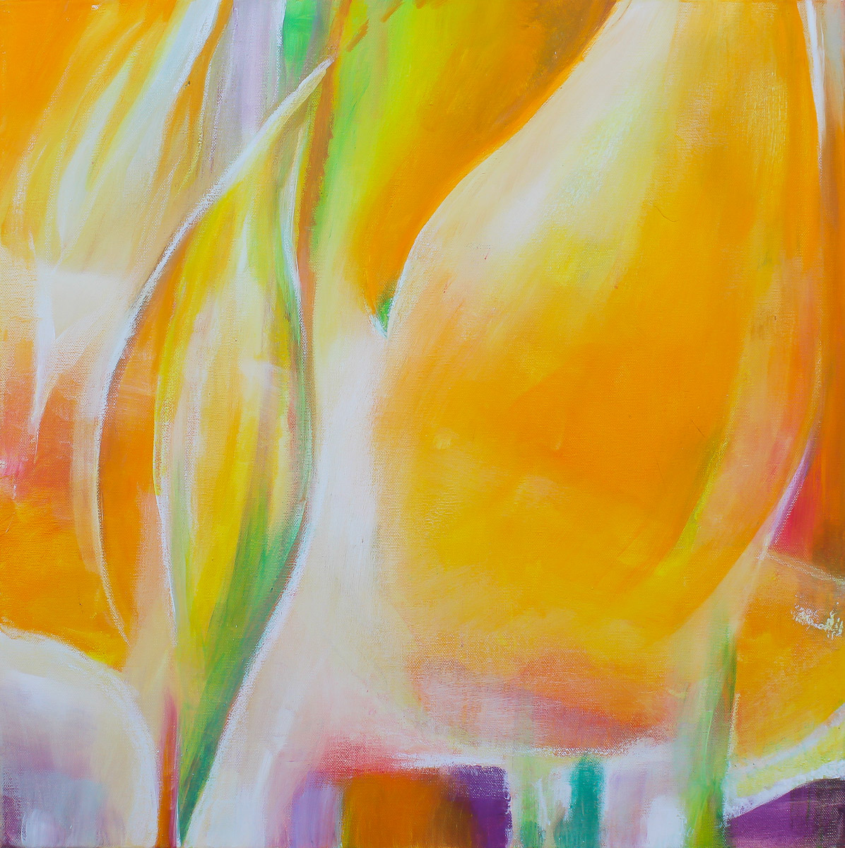 Annehmen 2    60 x 60 cm   Acryl auf Leinwand