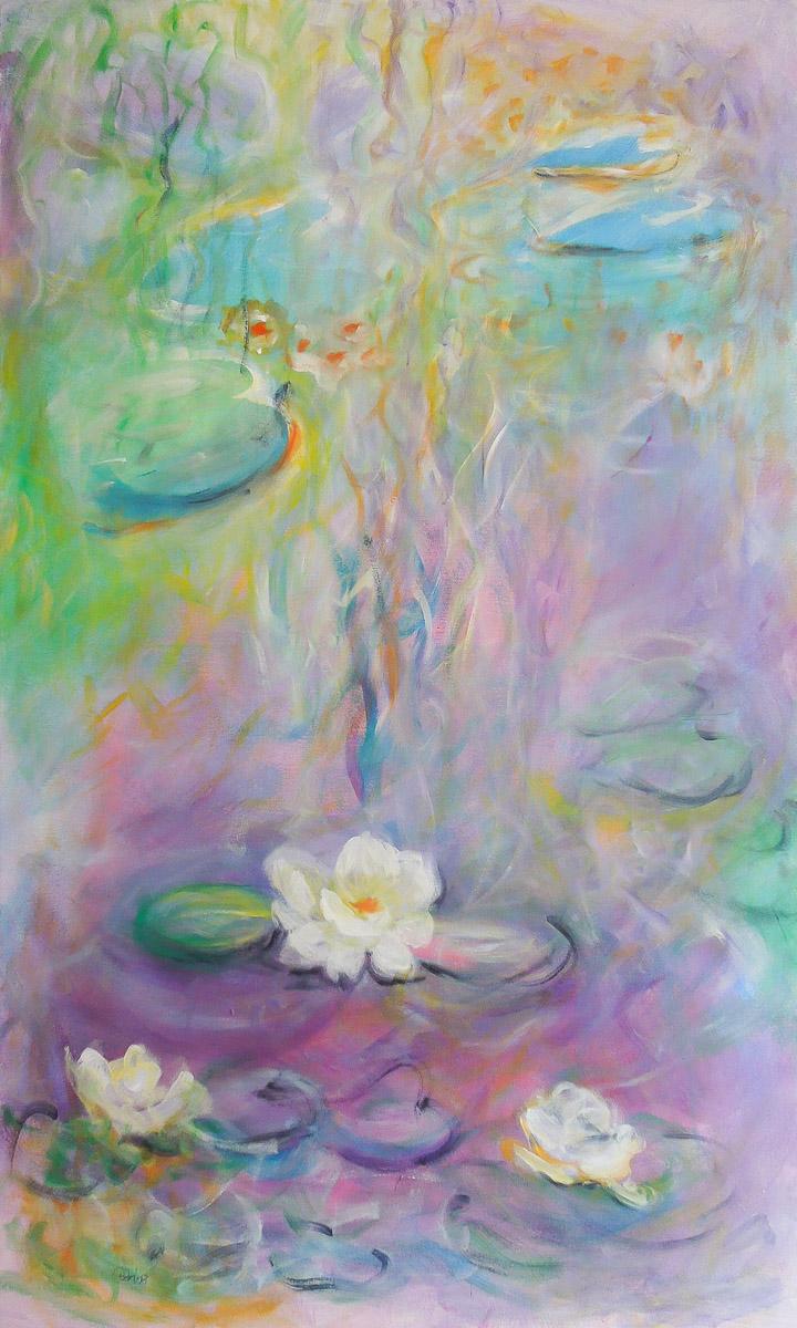 no mud no lotus   90 x 150 cm   Acryl auf Leinwand