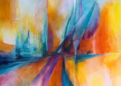 im Meer der Farben   100 x 150 cm   Acryl auf Leinwand