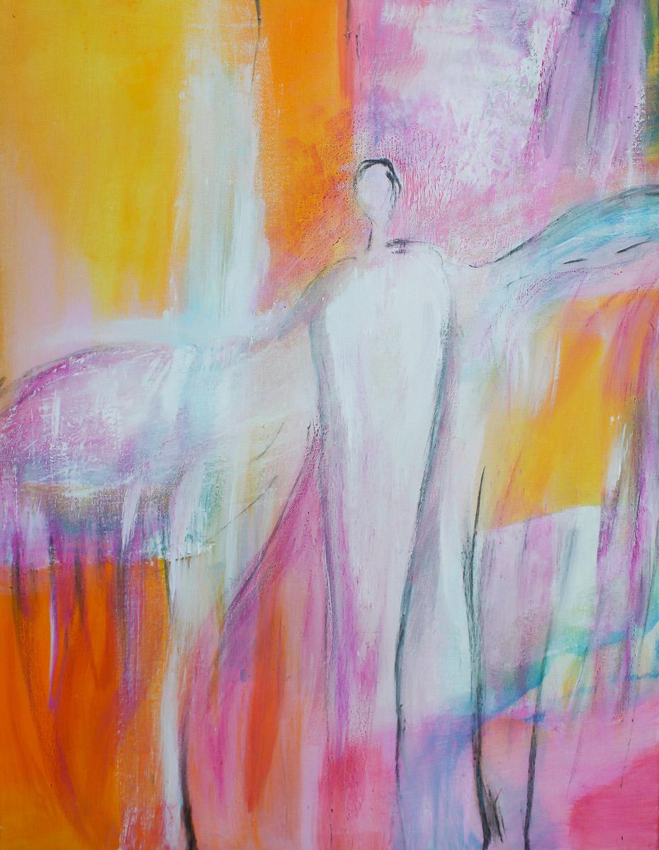 Engel der Weitsicht   60 x 75 cm   Acryl auf Leinwand