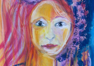 Blütenkind   80 x 100 cm   Acryl auf Leinwand