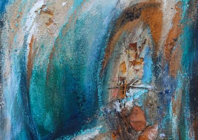 Blau im Herbst   30 x 40 cm   Mischtechnik auf Leinwand