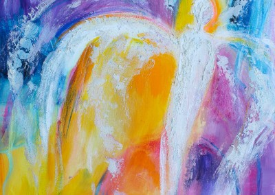 Engel der Transformation   60 x 60 cm   Mischtechnik auf Leinwand