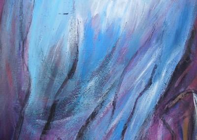 Engel der Weisheit   40 x 70 cm   Mischtechnik mit Vulkansand auf Leinwand