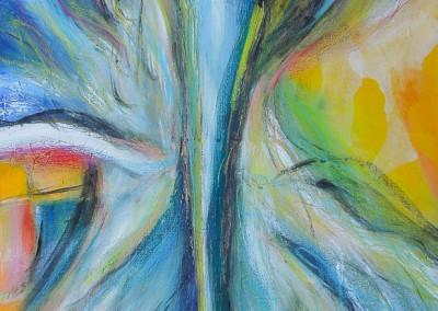 Engel des Wachstums   50 x 100 cm   Acryl auf Leinwand