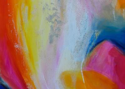 Farbleuchten   40 x 40 cm   Mischtechnik auf Leinwand