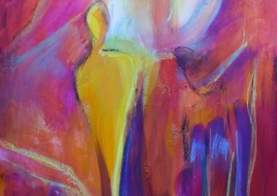 Gesegnet   50 x 70 cm   Acryl auf Leinwand