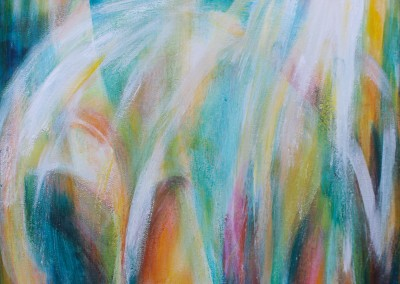 Selbstliebe   40 x 40 cm   Acryl auf Leinwand
