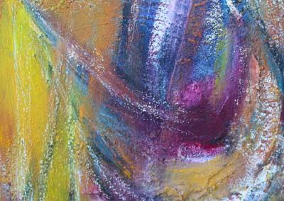 violetter Strahl 2   24 x 30 cm   Mischtechnik auf Leinwand